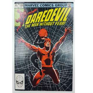 Daredevil #188 (1st Series 1982)- Classic Frank Miller Cover & Story! Guest-Starring The Black Widow!