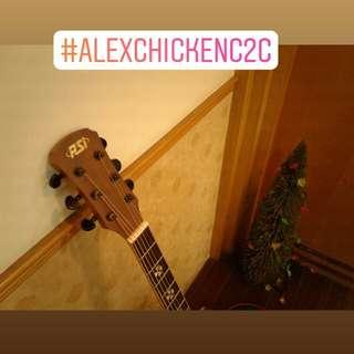 【PSI高音質民謠木吉他】+Fender民謠吉他弦+【智能溫度濕度時鐘】