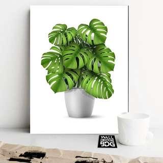 Walldecor hiasan dinding poster kayu botanical shabbychic