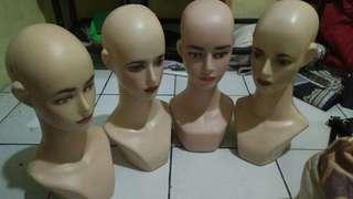 Patung manekin kepala jilbab