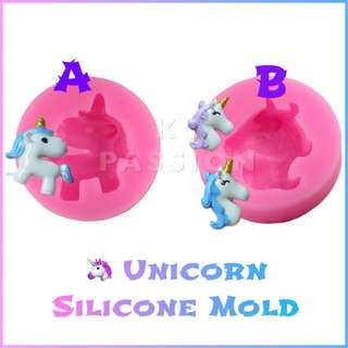 🦄 UNICORN SILICONE MOLD TOOL for Pastry • Chocolate • Fondant • Gum Paste • Candy Melts • Jelly • Gummies • Agar Agar • Ice • Resin • Polymer Clay Craft Art • Candle Wax • Soap Mold • Chalk • Crayon Mould •
