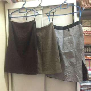 3 office skirts for rm15