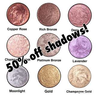 50% off all shadows!