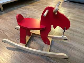 Wooden Rocking Moose