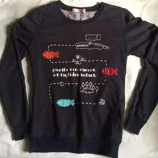 Patched Sweatshirt
