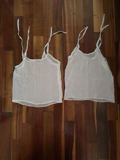 Newborn baby white soft cotton muslin vest ( bundle of 2 )