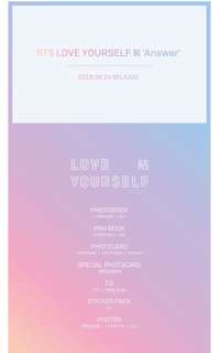 [NON PROFIT] BTS LOVE YOUSELF: ANSWER ALBUM INTERNAL TRADE