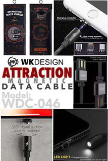 *WK DESIGN (WDC-046)*🌐 *ATTRACTION data cable*⚡ *(Magnetic)*