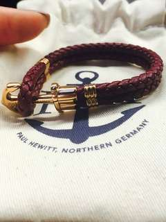 Paul Hewitt Maroon Leather Bracelet