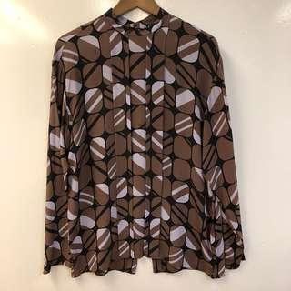 Men Prada silk shirt size 39
