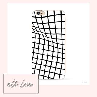 White Wobbly Grid iPhone 7 Plus / 8 Plus Phone Case