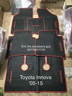 Toyota innova rubber matting set