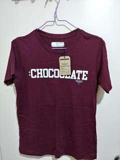 Chocolate wine red tee tshirt