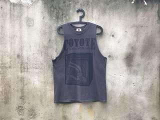 🚚 樂一通 古著灰色T-Shirt 威利狼 vintage 二手T