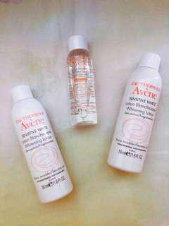 Avene whitening lotion/make-up remover