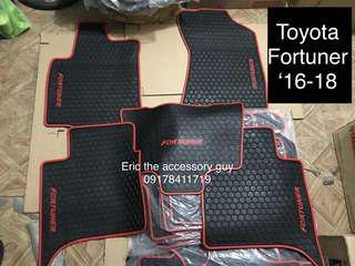 Toyota fortuner Rubber matting set