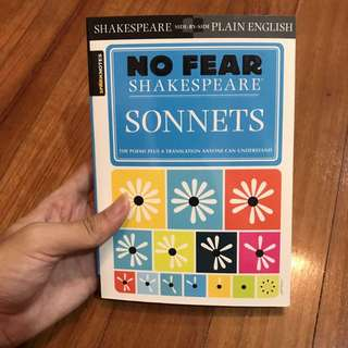 Sparknotes No Fear Shakespeare: Sonnets by William Shakespeare