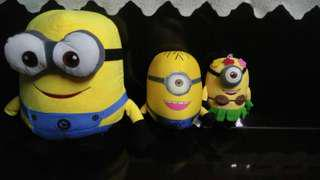 3 Despicable 2 minion in a family plush toys