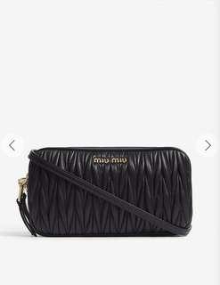 MIU MIU - Matelassé leather shoulder bag BLACK
