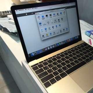 MacBook 12吋retina螢幕 金色 特別訂製版