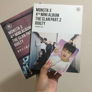 MONSTA X The Clan pt. 2 Guilty INNOCENT(周憲小卡) + GUILTY ver. 淨專