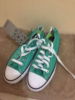 CONVERSE GREEN SHOES SIZE 38