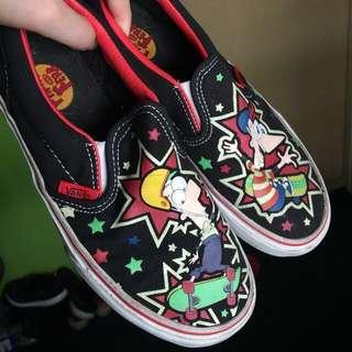 Phineas & Ferb Vans Classic Slip On Kids 2.5