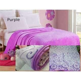 Superfine falai pile( coral /fleece ) selimut blanket queen size 150×200cm