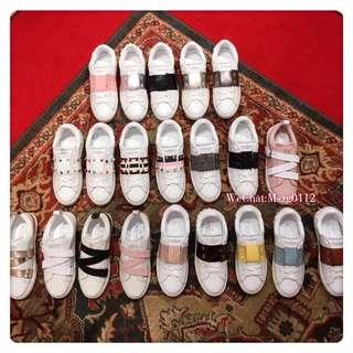 Valentino 專櫃最新系列 小白鞋 休闲鞋 21色