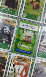 Ntuc fairprice xtra animals card