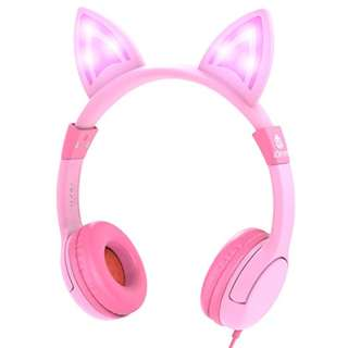 1492. iClever Kids Headphones Over Ear, LED Backlight, Safe Wired Kids Headsets 85dB Volume Limited