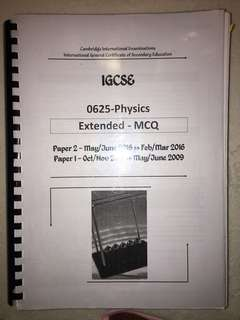 IGCSE PHYSICS MCQ PAST YEAR PAPER
