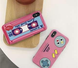 粉紅色磁帶遊戲機🎮造型iPhone Case