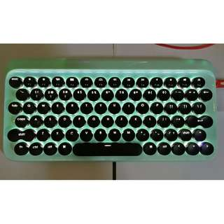 DOT Lofree bluetooth mechanical keyboard Mint Green compact unique lots of fun
