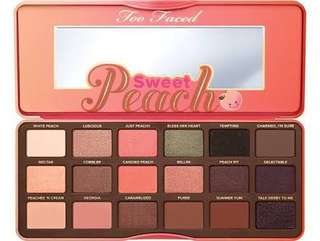 Too Faced Sweet Peach palette Brand New