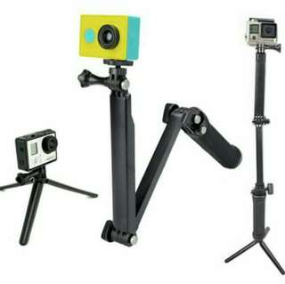 3 Way Monopod for GoPro Ready Stock