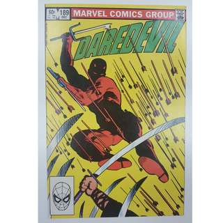 Daredevil #189 (1st Series 1982)- Gorgeous Frank Miller Cover & Story! Guest-Starring The Black Widow!