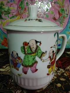 Extra Big chinese mug with cover