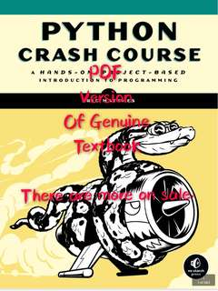 python crash course textbook 3rd edition. PDF versions textbook