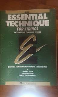 Preloved essential technique for strings