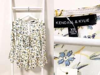💯真品 全新連吊牌 Kendall & Kylie summer floral dress 夏日碎花裙 網紅大熱款 xs碼