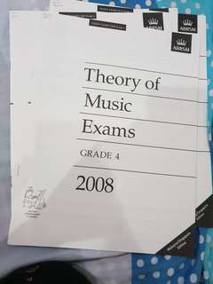 Grade 4 (2008-2012)Theory of music exam past year papers