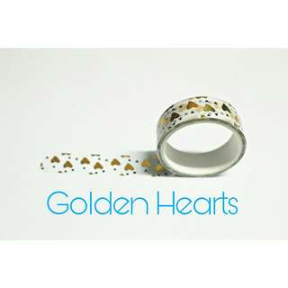 Golden Hearts Washi tape #winllaollao