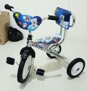 Sepeda sinchan roda 3 arafa stainless