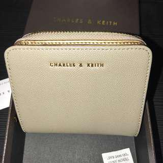 🚚 BN Charles And Keith Taupe Wallet
