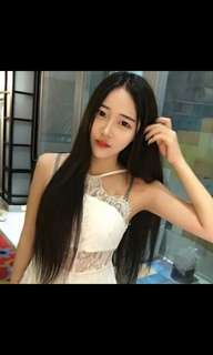 Preorder korean centre parting natural straight hair wig * waiting time 15 days after payment is made *chat to buy to order