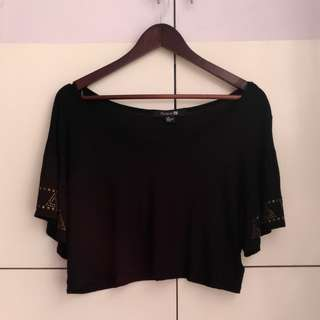 Forever 21 Black Boho Off Shoulders Top