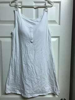 🚚 Lativ白色bra無袖洋裝