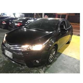 2014年 Toyota Altis 黑色少跑(FB:桃園阿福_優質中古車)