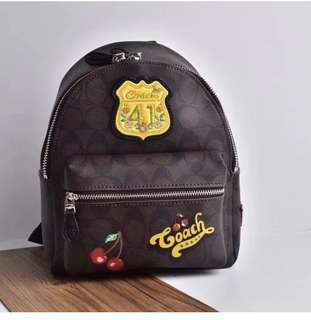 Coach Charlie Patches Mini Backpack